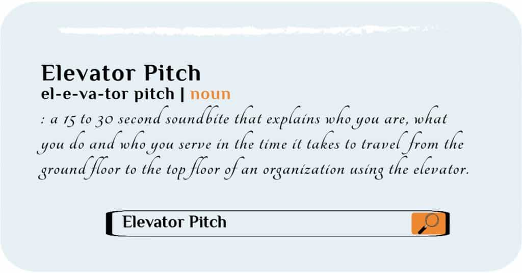 what's an elevator pitch