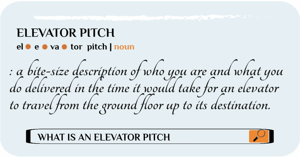 the perfect elevator pitch for a travel agent